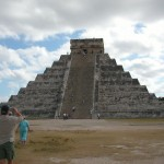 Climbing the Castillo @ Chichen Itza