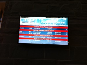 The very busy Niagara Falls Airport Flight Schedule