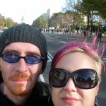 Gary and Nic on Pennsylvania Avenue