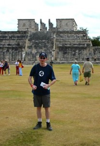 Gary at the Temple of the Warriors