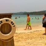 Carnival's private beach in Roatan, Honduras